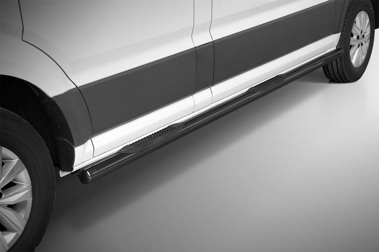 Sorte kanalbeskyttere Ø 70mm, m/trinn i plast, VW Crafter SWB mod. 2017->