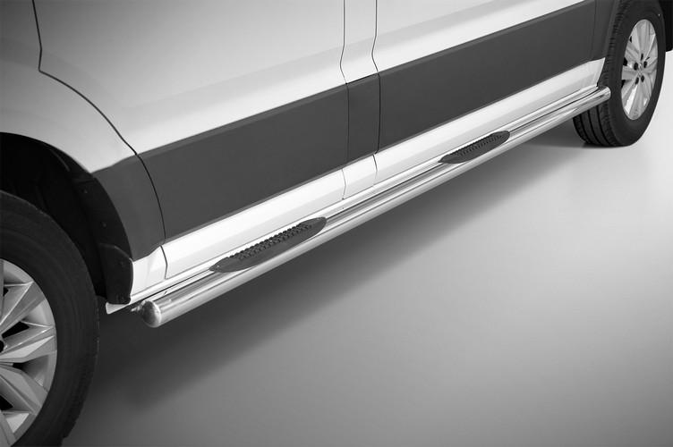 Kanalbeskyttere Ø 70mm, m/trinn i plast, VW Crafter SWB mod. 2017->