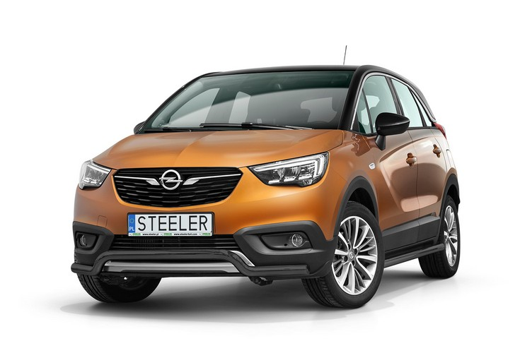 Sort spoilerrør Ø 60mm, Opel Crossland X mod. 2017->