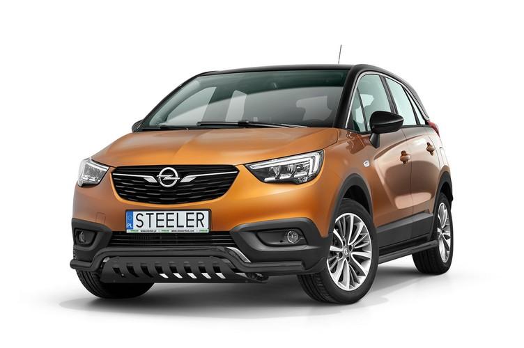 Sort spoilerrør Ø 60mm, m/underkjørseksjon (blekkplate), Opel Crossland X mod. 2017->