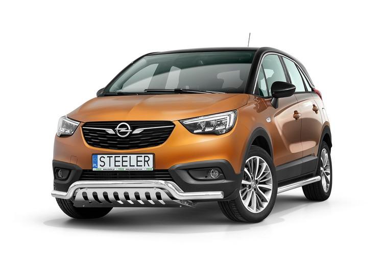 Spoilerrør Ø 60mm, m/underkjørseksjon (blekkplate), Opel Crossland X mod. 2017->