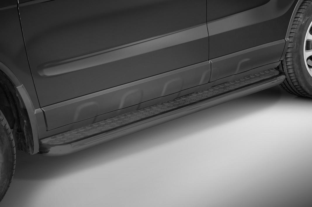 Sorte stigtrinn Ø 70mm, m/metallplate,   Honda CRV mod. 2006->2009