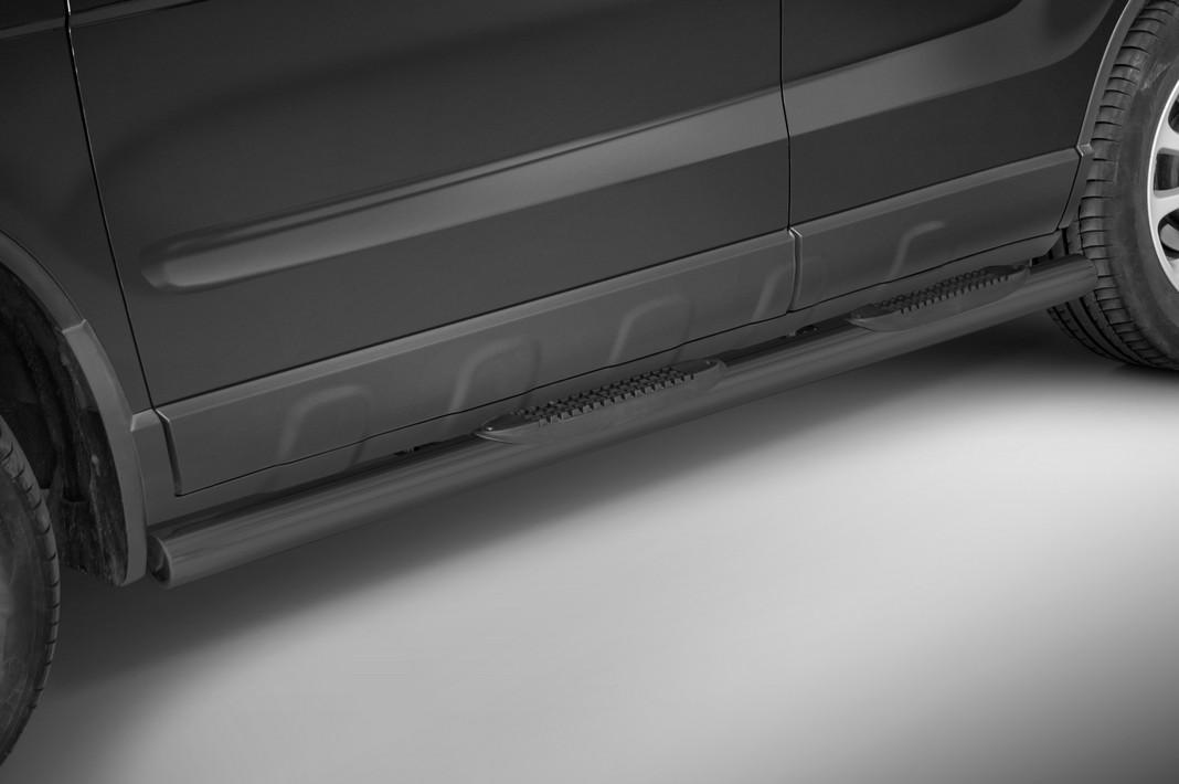 Sorte kanalbeskyttere Ø 70mm, m/trinn i plast, Honda CRV mod. 2006->2009