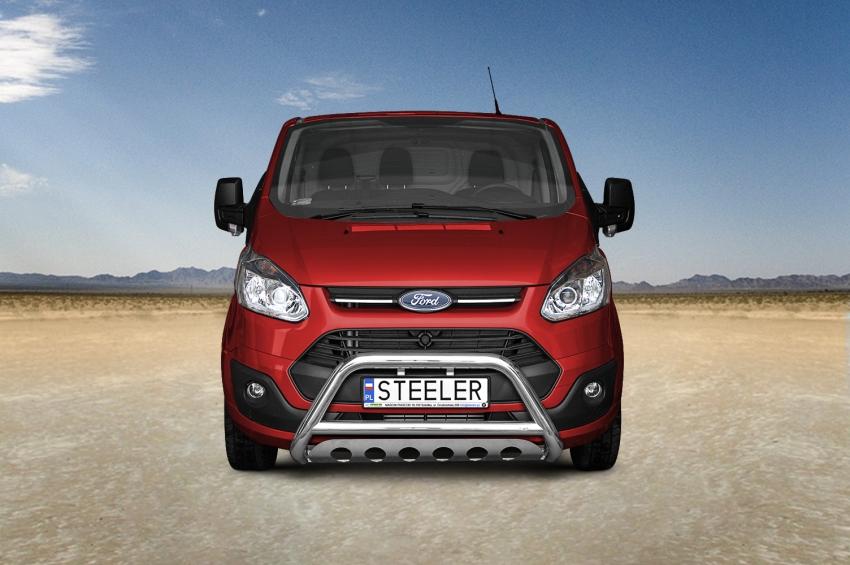 EU-Kufanger Ø 70mm/Ø 60mm, underkjørseksjon (blekkplate), Ford Transit Custom, mod. 2012->2018