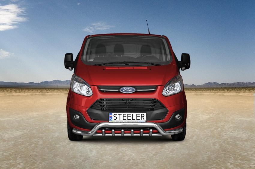 Frontspoiler, Ø 70mm, Ford Transit Custom mod. 2012->2018