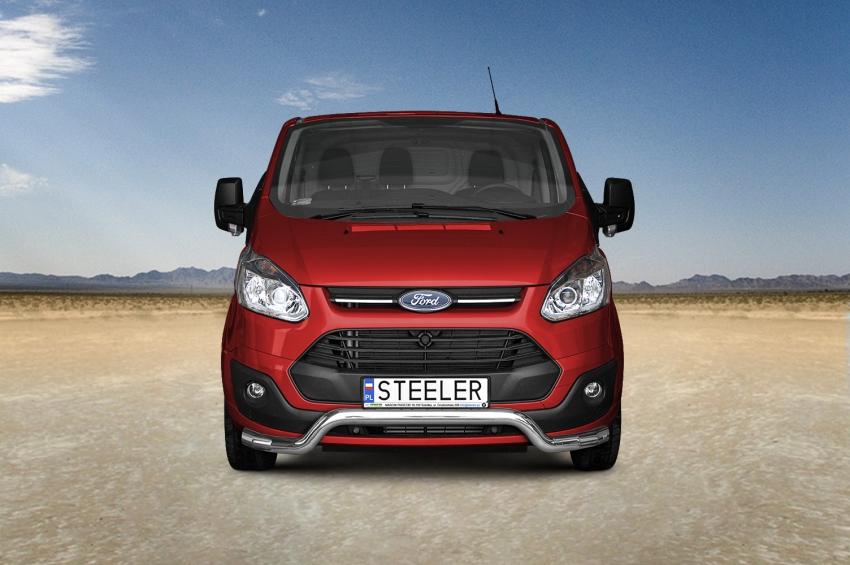 Frontspoiler m/underkjørseksjon, rør, Ø 70mm, Ford Transit Custom, mod. 2012->2018