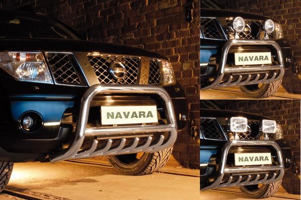 EU-Kufanger  m/underkjørseksjon  (rør), Ø 70mm, Nissan Navara D40, mod. 2005->2010