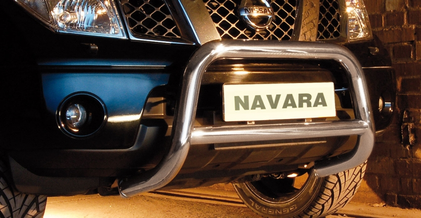 EU-Kufanger m/tverrrør, Ø 70mm/Ø 60mm, Nissan Navara D40 V6, mod. 2010->2015