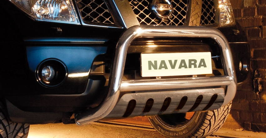 EU-Kufanger  m/underkjørseksjon blekkplate, Ø 70mm, Nissan Navara D40 V6, mod. 2010->2015
