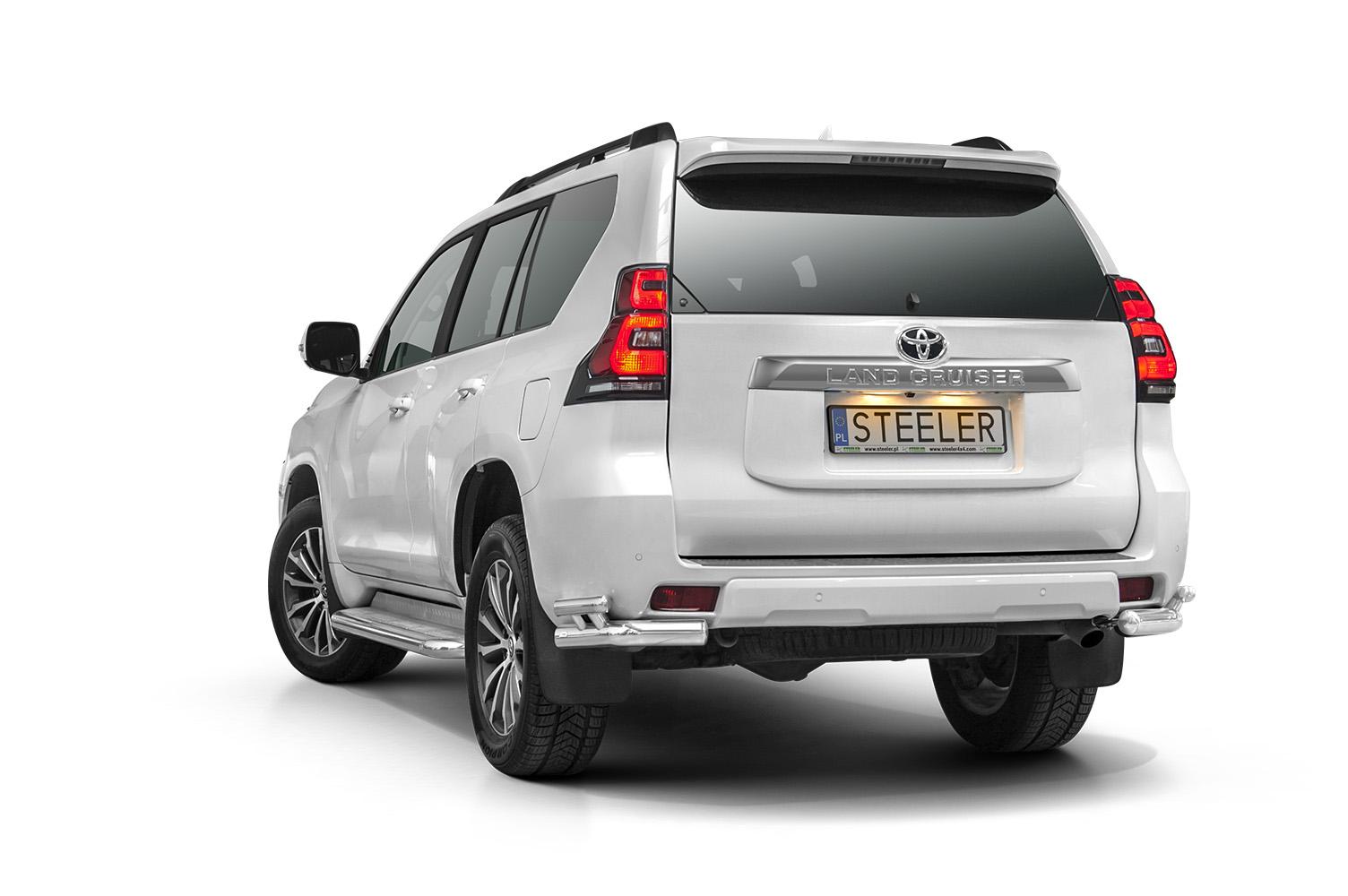 Hekkfanger, hjørner, Ø 70 mm, Toyota LAND CRUISER 150, mod. 2017->