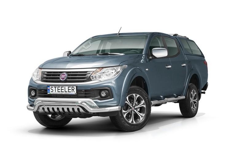 Spoilerrør Ø 70mm, m/underkjørseksjon (blekkplate), Fiat Fullback mod. 2015->