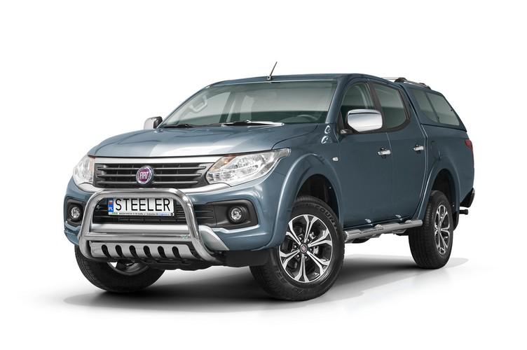 EU-Kufanger Ø 70mm, tverrør Ø 60mm, underkjørseksjon (blekkplate), Fiat Fullback mod. 2015->