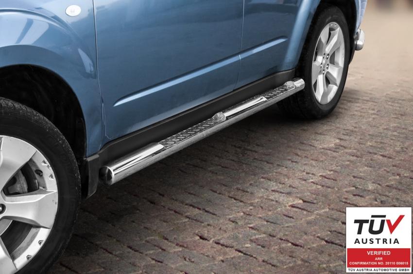 Kanalbeskyttere Ø 76mm, m/trinn, Subaru Forester, mod. 2008->2012
