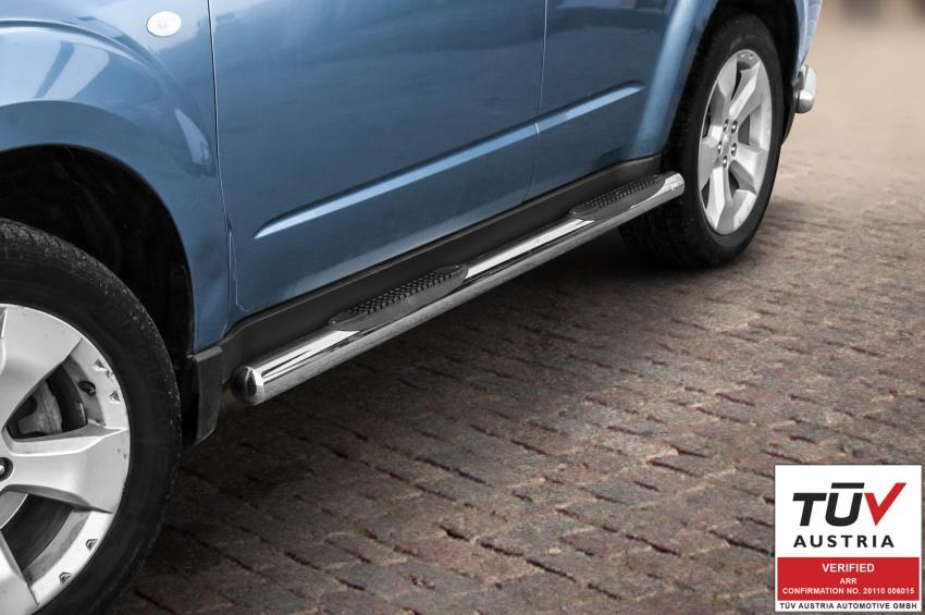 Kanalbeskyttere Ø 70mm, m/trinn i plast, Subaru Forester, mod. 2008->2012