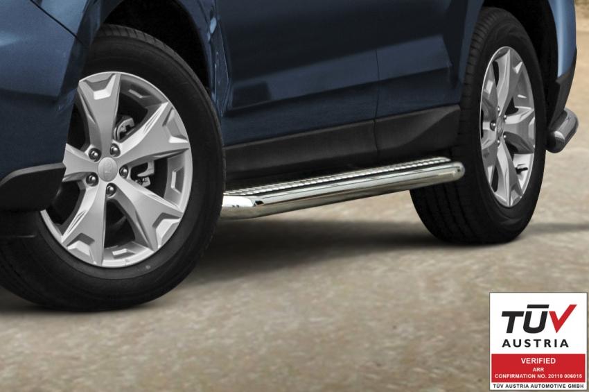 Stigtrinn m/blekkplate, rør Ø 60mm, Subaru Forester, mod. 2013->2016