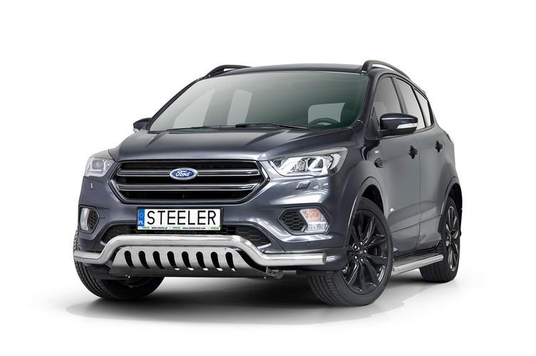 Spoilerrør, Ø 70mm, m/underkjørseksjon (blekk), Ford Kuga, mod. 2017->2019