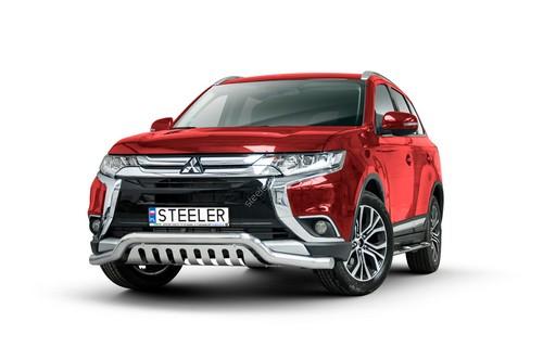Spoiler Ø70 mm m/underkjørseksjon blekkplate, Mitsubishi Outlander mod. 2015->2018