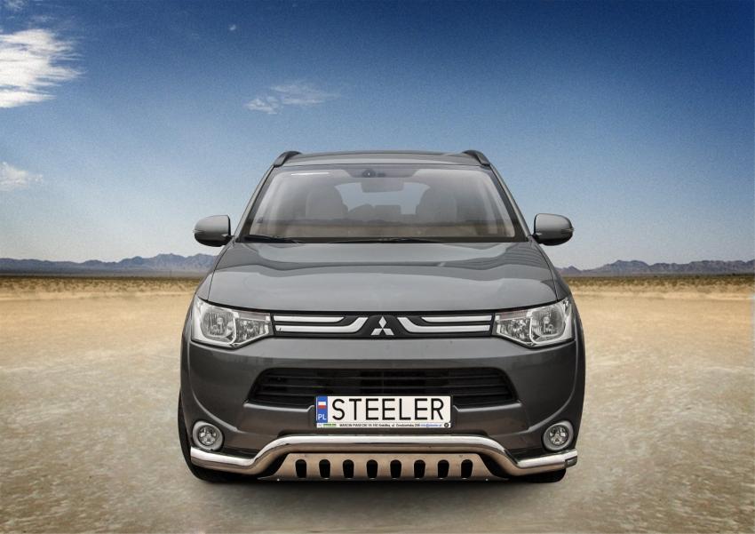 Spoiler Ø70 mm m/underkjørseksjon blekkplate, Mitsubishi Outlander mod. 2012->2015