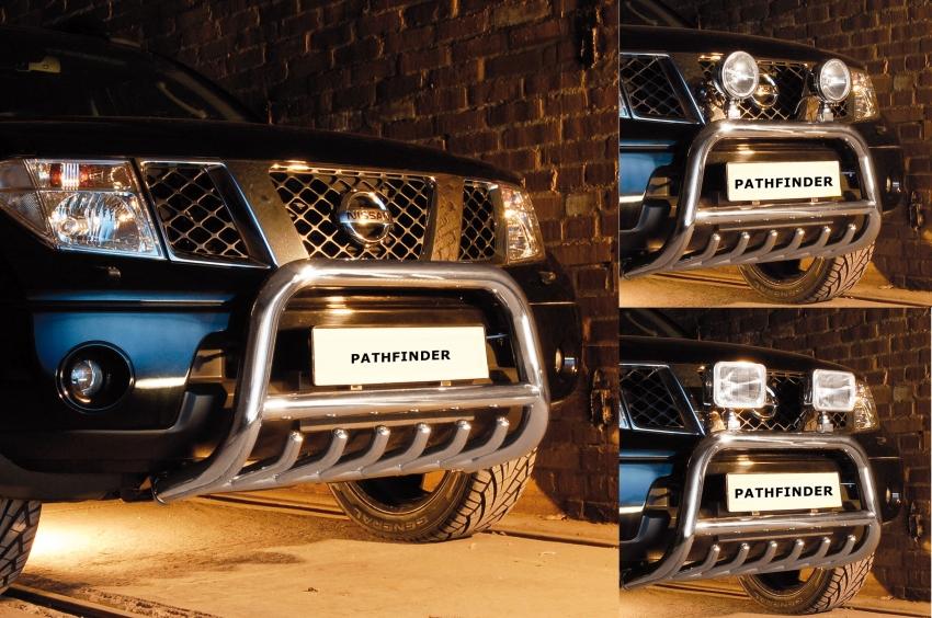 EU-Kufanger  m/underkjørseksjon, rør, Ø 70mm, Nissan Pathfinder, mod. 2010->