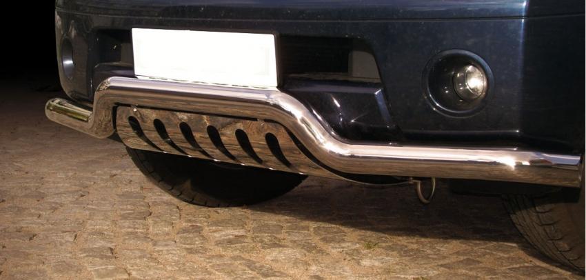 Frontspoiler Ø 70mm, m/underkjørseksjon (blekkplate), Nissan Pathfinder, mod. 2010->