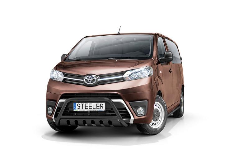 Sort EU-Kufanger Ø 60mm, m/underkjørseksjon (blekk), Toyota ProAce Verso mod. 2016->