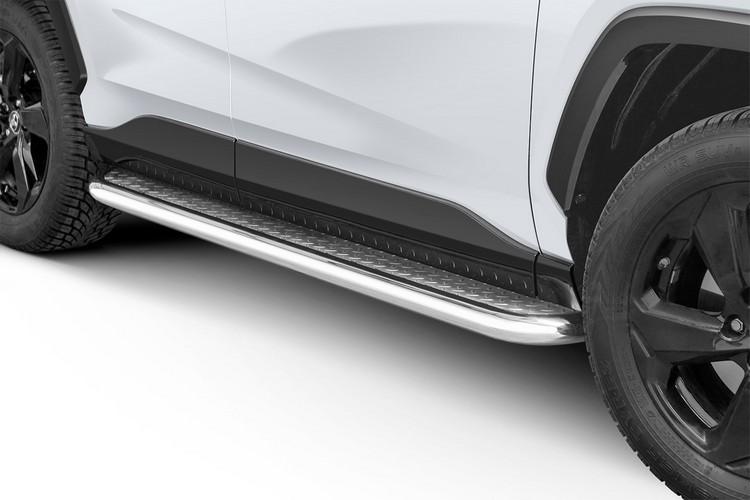 Stigtrinn m/blekkplate, rør Ø 60mm, Toyota RAV4, mod. 2018->