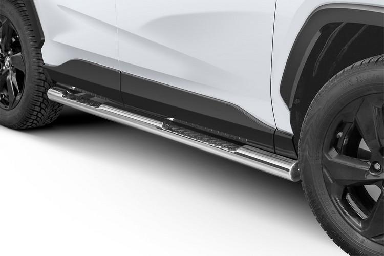 Kanalbeskyttere Ø 76mm, m/trinn, Toyota RAV4, mod. 2018->