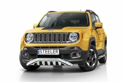 Spoilerrør Ø 60mm, m/underkjørseksjon (blekk), Jeep Renegade mod. 2014->2018
