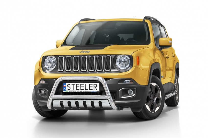 EU-Kufanger Ø 60mm, m/underkjørseksjon (blekk), Jeep Renegade mod. 2014->2018