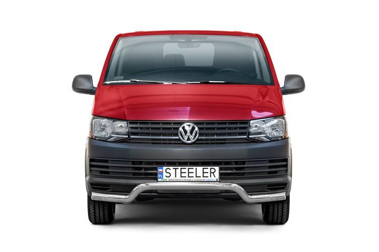 Sort spoilerrør Ø 70mm, underkjørseksjon (blekkplate), VW T6 mod. 2015->