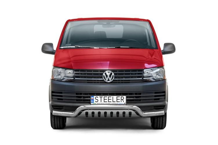 Sort spoilerrør Ø 70mm, VW T6 mod. 2015->