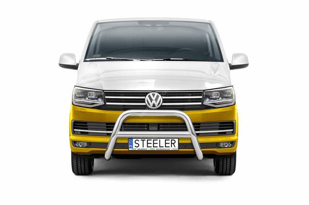 Sort EU-Kufanger m/tverrør Ø 70mm/Ø 60mm, VW T6 mod. 2015->