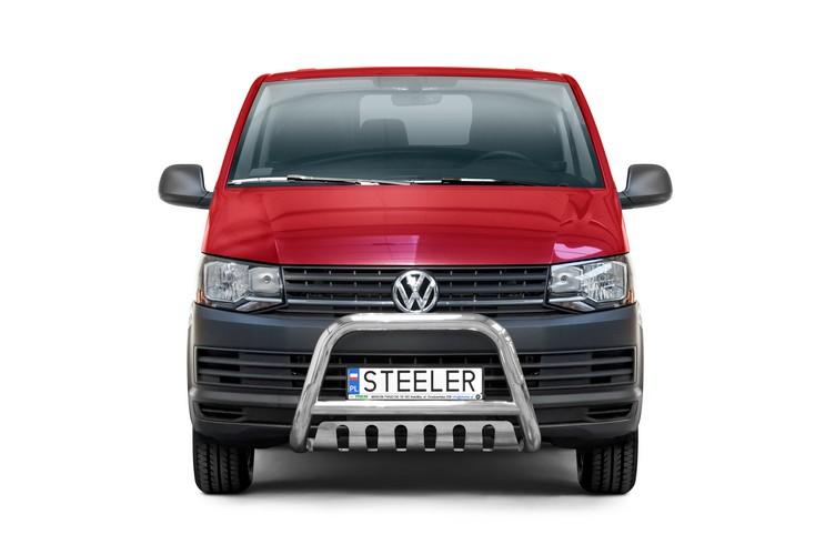 Sort EU-Kufanger Ø 70mm/Ø 60mm, underkjørseksjon (blekkplate), VW T6 mod. 2015->