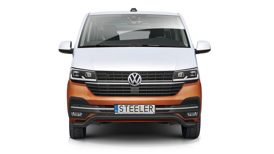 Sort spoilerrør Ø 70mm, VW T6.1 mod. 2019->
