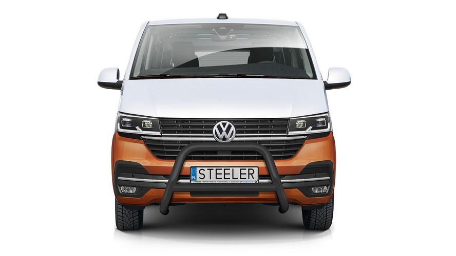 Sort EU-Kufanger m/tverrør Ø 70mm/Ø 60mm, VW T6.1 mod. 2019->