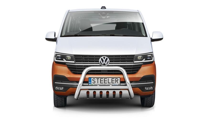 EU-Kufanger Ø 70mm/Ø 60mm, underkjørseksjon (blekkplate), VW T6.1 mod. 2019->