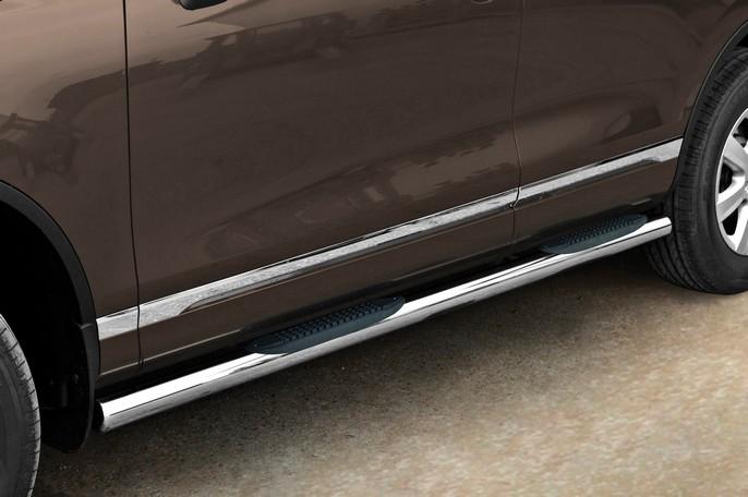 Sorte Kanalbeskyttere Ø 70mm m /trinn i plast, VW TOUAREG mod. 2011->2015