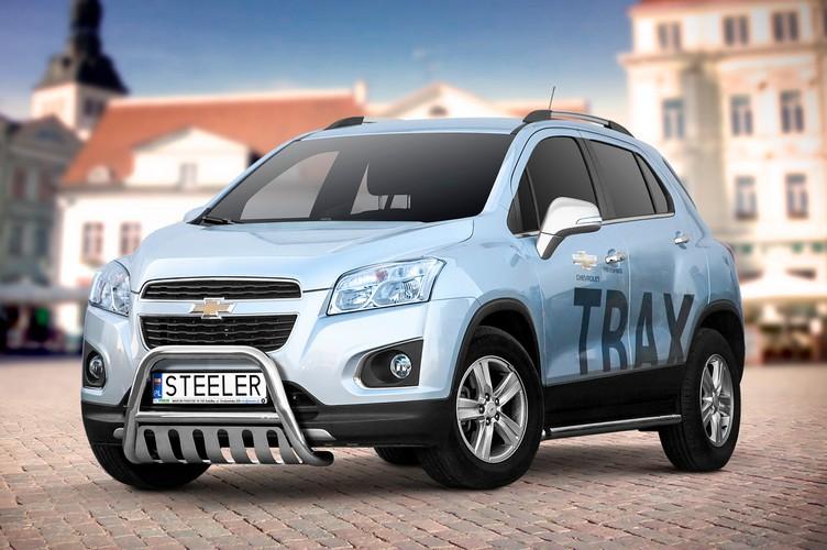 EU-Kufanger Ø 60mm, tverrør Ø 48mm, underkjørseksjon (blekk), Chevrolet Trax mod. 2013->