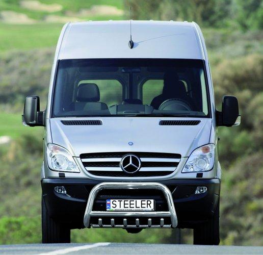 EU-Kufanger Ø 70mm, tverrør Ø 60mm, underkjørseksjon (rør), Mercedes Sprinter mod. 2006->2017